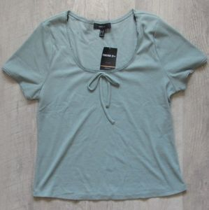 NWT Forever 21 Sage Green Ribbed Top 2X